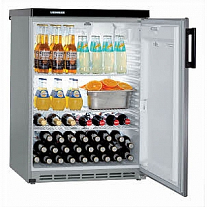 Liebherr FKVesf1805 Table height-under counter fridge in Silver